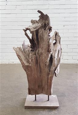 Sale 9137 - Lot 1027 - Modern driftwood sculpture on stand (h80 x w45 x d30