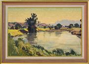 Sale 8408 - Lot 529 - Max Ragless (1901 - 1981) - Bellingen Valley 38.5 x 59cm