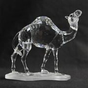 Sale 8412B - Lot 11 - Swarovski Crystal Camel with Box - Height 11.5cm
