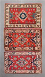 Sale 8480C - Lot 9 - 3 x Afghan Kazak 90cm x 60cm