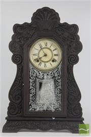 Sale 8521 - Lot 2 - American Timber Cased Clock