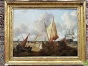 Sale 8559 - Lot 1064 - Dutch Style Oleograph, of a maritime scene, in a gilt frame, size excluding frame 50  x 67.5