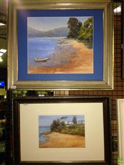 Sale 8622 - Lot 2139 - 2 Works: T.Bennett - Seaside, Acrylic on Board, SLR;  Mooring, Acrylic on Board SLR