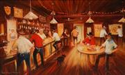 Sale 8652 - Lot 508 - Arthur Hamblin (1933 - ) - Rush Hour 59.5 x 90cm