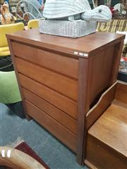 Sale 8676 - Lot 1349 - Modern Timber Chest of 6 Drawers