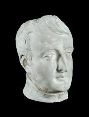 Sale 8697A - Lot 55 - A vintage French Napoleon Bonaparte plaster bust, H 30cm