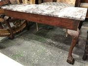 Sale 8822 - Lot 1841 - Marble Top Occasional Table on Cabriole Legs