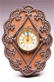 Sale 9081 - Lot 19 - Victorian Steel Cut Mantle clock manufactured by the British United Clock Co Ltd (H19cm)