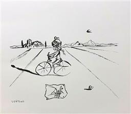 Sale 9108A - Lot 5082 - Salvador Dali (1904 - 1989) - Bicycle Man 44 x 39 cm