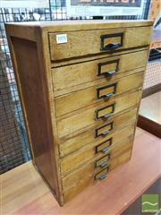 Sale 8421 - Lot 1071 - Timber Eight Drawer Desk Top Filer