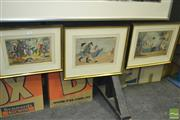Sale 8425T - Lot 2015 - Set of 3 early hand coloured engravings