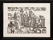 Sale 8587 - Lot 2078 - Rebecca Marika - City, lithograph ed. 8/10, frame size; 33 x 43cm, signed lower right
