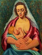 Sale 8675 - Lot 591 - Florence Shirlow (1903 - 1987) - Mother & Child signed upper left