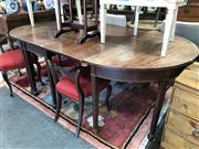 Sale 8868 - Lot 1525 - Antique Mahogany D End Table with Extension Piece