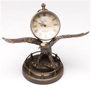 Sale 9078 - Lot 190 - A Reproduction Eagle form Ball Clock