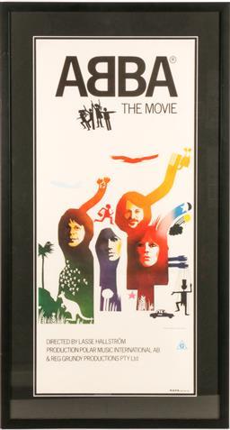 Sale 9136 - Lot 98 - A Framed Abba Poster (88cm x 48cm)