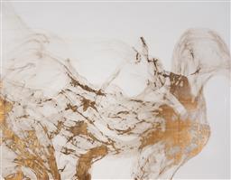 Sale 9221JM - Lot 5081 - ARTIST UNKNOWN Prairie Wind lithograph and goldleaf 106 x 137 cm (frame: 113 x 142 x 5 cm) unsigned