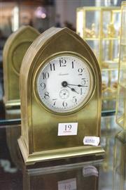 Sale 8322 - Lot 19 - Ansonia Brass Cased Clock