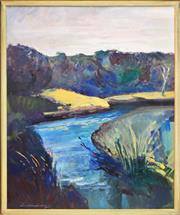 Sale 8363 - Lot 524 - Ian Armstrong (1923 - 2005) - Angelsea River, 2000 99 x 79.5cm