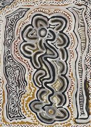 Sale 8718 - Lot 528 - Lily Nungarrayi Yirdingali (c1930 - )Jurrah Hargraves (1930 - ) - Bush Vine Dreaming, c1996 acrylic on canvas