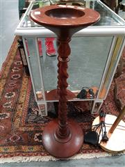 Sale 8744 - Lot 1011 - Timber Smokers Stand on Barley Twist Base