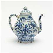 Sale 8770 - Lot 50 - A Ming blue and white teapot and cover, Chinese, 16th century, H x 13cm