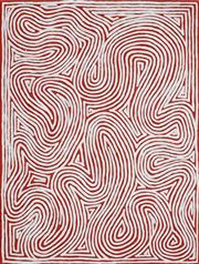 Sale 8781 - Lot 582 - George Hairbrush Tjungurrayi (1943 - ) - Tingari 97 x 74cm