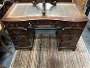 Sale 8822 - Lot 1850 - Twin Pedestal Desk with Serpentine Front
