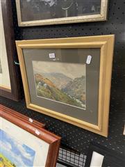 Sale 8995 - Lot 2072 - Okemert River Belstone West Devon, watercolour, signed, 32x40cm (frame)