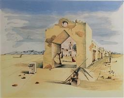 Sale 9108A - Lot 5069 - Salvador Dali (1904 - 1989) - Paranoic Village 56 x 80 cm