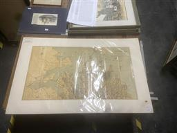 Sale 9111 - Lot 2074 - A  map of the Wharf accommodation of the Port of Sydney published 1924, mounted/ unframed, mount: 58 x 92 cm