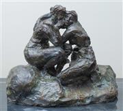 Sale 8562A - Lot 46 - Emile Antione Bourdelle, French (1861 - 1929) - Les Deux Amies 24 x 27 x 16cm