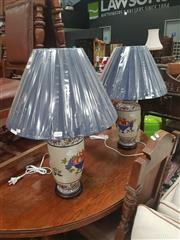 Sale 8676 - Lot 1389 - Pair of Classical Style Table Lamps with Fruit Bowl Motifs