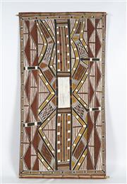 Sale 8718 - Lot 569 - Les Mirrikkurriya (1938 - 1996 ) - Watercourses at Kinidjangka, 1994 natural pigments on eucalyptus bark