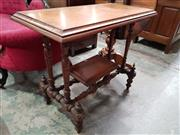 Sale 8831 - Lot 1055 - Victorian Mahogany Side Table on Turned Legs