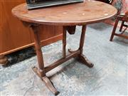 Sale 8848 - Lot 1046 - French Oak & Fruitwood Vigneron Table, from Cote DOr, with round top on a folding base