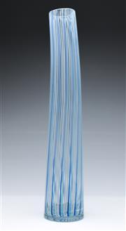 Sale 9090 - Lot 77 - A Tall Swirl Pattern Art Glass Vase (H 51cm)