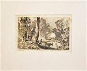 Sale 8330A - Lot 90 - Vincent Brown (1901 - 2001) - The Crossing, 1930 14 x 23cm