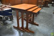 Sale 8338 - Lot 1076 - G-Plan Nest of Three Tables