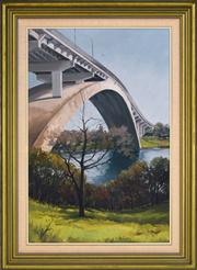 Sale 8349A - Lot 25 - John Perkins (XX) - Gladesville Bridge 80 x 52.5cm