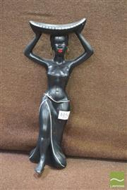 Sale 8338 - Lot 1056 - Barsony Style Black Lady Figurine (marked H-24)