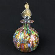 Sale 8402D - Lot 9 - Murano Millefiori Art Glass Perfume Bottle (Height - 15cm)