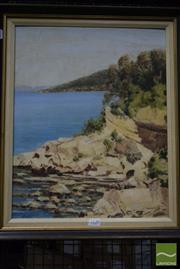 Sale 8518 - Lot 2034 - Yvonne Francart - Coastal Scene 50 x 40cm