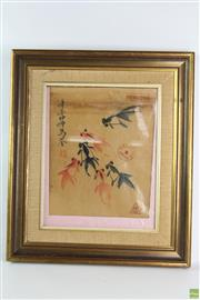 Sale 8568 - Lot 89 - Framed Gold Fish Print