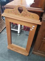 Sale 8676 - Lot 1138 - Small Painted Timber Frame Mirror