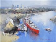 Sale 8732 - Lot 502 - John Lovett (1953 - ) - Down River 43.5 x 58.5cm