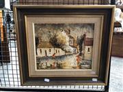 Sale 8819 - Lot 2016 - Willmotte Williams - Early Sydney - Redfern oil on canvas board, signed