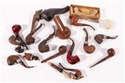 Sale 9010D - Lot 767 - A group of pipes, together with stands including fence example