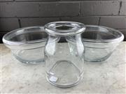 Sale 9039 - Lot 1030 - Garniture of Scandinavian Post Modern Glass Centrepieces inc Hadeland (d:2405cm)