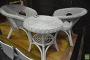 Sale 8361 - Lot 1097 - Childs Three Piece Wicker Set